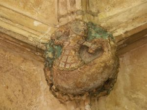 jacket-wearing mermaid at Lacock Abbey