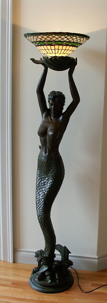 mermaid standing lamp