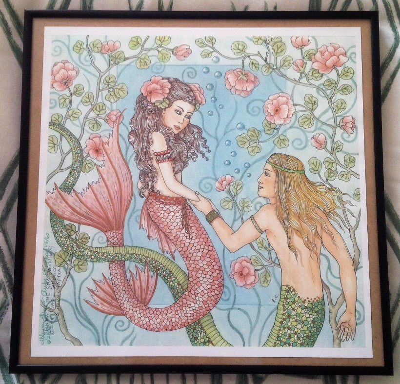 Mermaid Merman - Beneath the Sea Peonies - Jade Navarro Bengco & Aubry Chapman