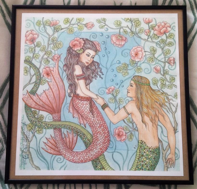 Mermaid Merman - Beneath the Sea Peonies - Jade Navarro Bengco & Aubry Chapman