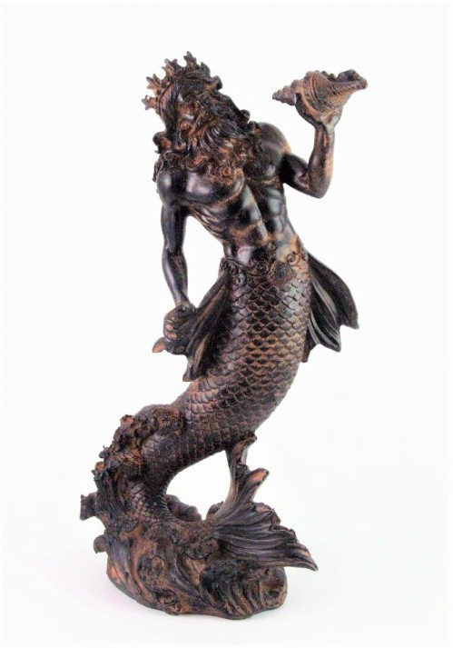 Poseidon merman figurine