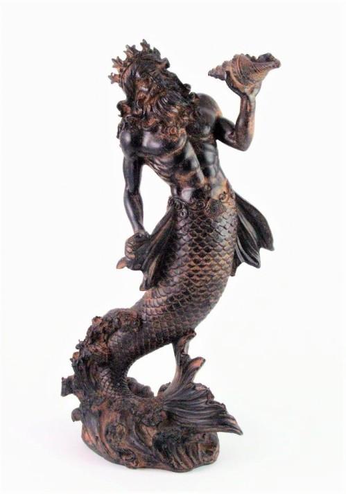 Poseidon merman figurine